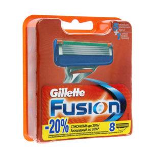 Сменные кассеты для бритья Gillette Fusion 8шт. пять лезвий,смазывающая полоска (6) [SAP_] О0001744