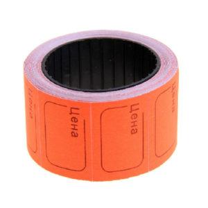 Ценник самоклеющиеся в ролике 20х30мм, оранжевый «Цена» арт.100-116, 350 этикеток, Linger эконом (5/100) О0001783