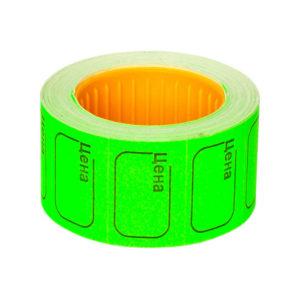 Ценник самоклеющиеся в ролике 20х30мм, зелёный «Цена» арт.100-114, 350 этикеток, Linger эконом (10/100) О0001784