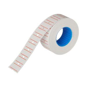 Этикет-лента МНК, прямоугольная 21.5х12мм, белый с красной полосой «Linger» арт.101-101, 400 этикеток (10/270) О0001796
