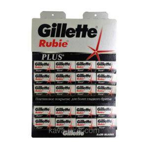 Лезвие двухстороннее для бритья «Gillett Rubie» (1упаковка=20пачек х 5шт) (1/12) О0001818