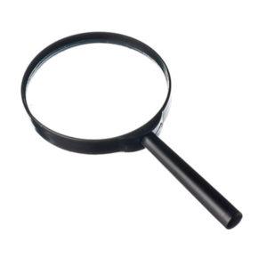 Лупа просмотровая пластиковая круглая ЛП-1-2х d=75мм, рукоять пластиковая (10/400) О0001826
