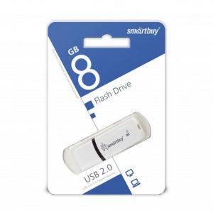 USB 2.0 флеш-накопитель 8Gb Smartbay Paean Series белая,колпачек,58х19мм [SB8GBPN-W] О0001942