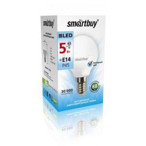 Лампа светодиодная P45 Smartbuy 5W/40Вт E14 4000К 400Lm 76х45мм (10/50) [SBL-P45-05-40K-E14] О0002104