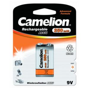 Аккумулятор Camelion 6F22 250mAh Ni-Mh BL1 (1/10) [NH-9V250BP1] 00000004