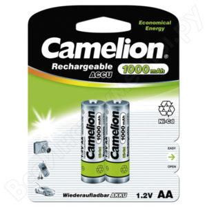 Аккумулятор Camelion R6/AA 1000mAh Ni-Cd BL2 (24/480) [NC-AA1000BP2] 00000015