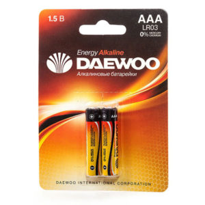 Батарейка Daewoo Energy LR03/ААА BL2 (20/480) [LR3EA-2B] 00000180