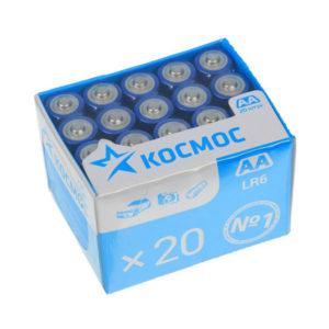 Батарейка Космос Alkaline LR6/АА box20шт. (20/640) 00000373
