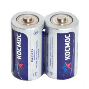 Батарейка Космос Zinc Carbon R14/С S2 (24/288) 00000383