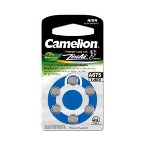 Батарейка Camelion Zinc Air A675/PR44/AG13 1.4V BL6 (60/1800) 00001450