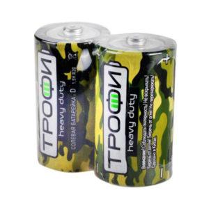 Батарейка Трофи Super Heavy Duty R20/D S2 (12/288) 00001807