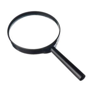 Лупа просмотровая пластиковая круглая ЛП-1-2х d=60мм, рукоять пластиковая (10/400) 00002526