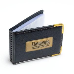 Визитница экокожа Datamate ZA60, на 30 холдеров, металлические уголки, цвет микс (12/360) 00003361