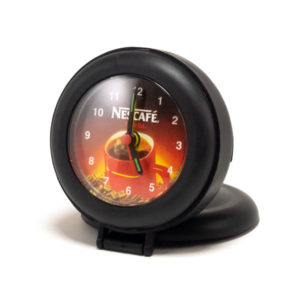 Будильник Xinda XD-116 Nescafe, круглый, складной, 8.7х8х3 см (1) 00003736