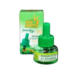 GO OUT Жидкость от комаров 30 дней 30мл. без запаха (36) [280779] 00003790