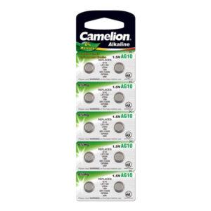 Батарейка для часов Camelion Alkaline AG10/389/LR1130 1.5В BL10 (100/3600) 00003857