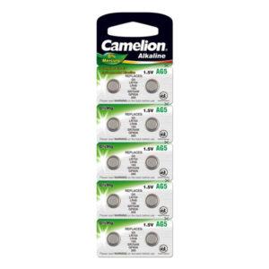 Батарейка для часов Camelion Alkaline AG5/393/LR754 1.5В BL10 (100/3600) 00003922