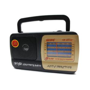 Радиоприемник KIPO КВ-408 AC/DC аналоговый тюнер,питание от 220В/2хR20,шнур (40) 00004537