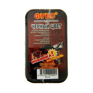 Фукс Губка для гладкой кожи, цвет: чёрный «Макси» с силиконовой пропиткой, 9х5х3см (6/210) 00004605