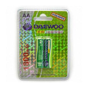 Аккумулятор Daewoo R6/AA 1800mAh Ni-Mh BL2 (20/100) 00004615