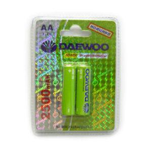 Аккумулятор Daewoo R6/AA 2500mAh Ni-Mh BL2 (20/100) 00004617