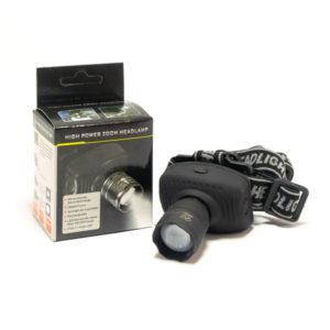 Фонарь налобный 1диод (0.5W) Zoom, 3хR3, круг «NGY» YT-8206,черный ABS-пластик,ремешок, 8х6.6х5см (60/240) 00004663