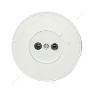 Розетка внутренняя карболитовая круглая белая (8/400) 00004731