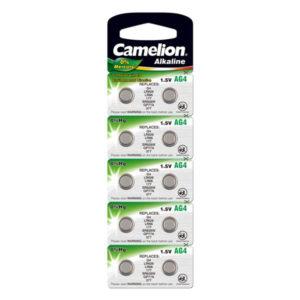 Батарейка для часов Camelion Alkaline AG4/377/LR626 1.5В BL10 (100/3600) 00004733