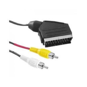 Шнур аудио видео:SCART(21 pin)-2RCA, длина 1.2м, литой, пакет (600) 00004862