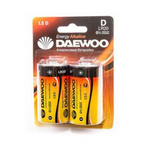 Батарейка Daewoo Energy Alkaline LR20/D BL2 (12/96) [LR20EA-2B] 00004982