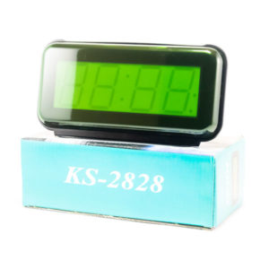 Часы сетевые KS-2828 зеленый яркий,говорящие,9V,21.5х10.8х7.5см (1) 00005042