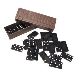 Игра «Домино» арт.0005, цвет чёрный, ПВХ упаковка, размер костяшки 1,9×3,9х0,5 см, вес: 137.6гр. (1/25) 00005415