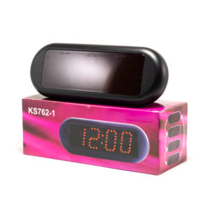Часы сетевые KS-762-1 красный,календарь,термометр с выносным датчиком,22.5х8.5х8.5см (1) 00005638