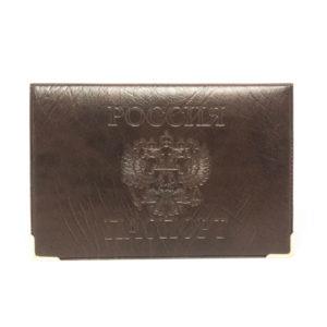 Обложка на паспорт ПВХ тиснение «Конгрев под кожу матовый» горизонтальный,цвет микс (50/600) 00005660