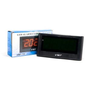 Часы сетевые VST №732-1 красный,9V,22.7х11.9х5.7см (1) 00006347
