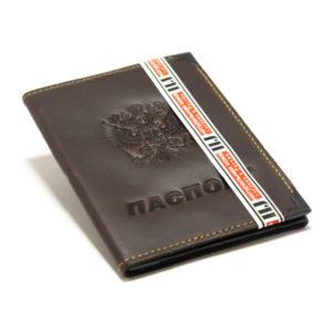 Обложка 2 в 1 на автодок. нат.кожа Автодокументы+Паспорт, 3 сложения (1/500) 00006429