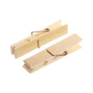 Прищепка бельевая деревянная бамбуковая S-1470 1х20шт. «Bamboo Peg», в пакете (1/250) 00006522