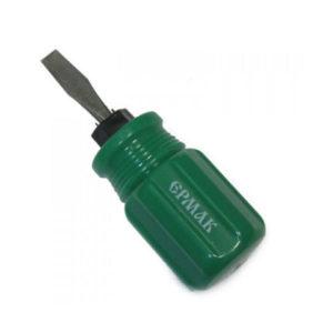 Отвертка 2 в 1, 6х38мм, цвет: зелёный «Ермак» арт.651-974 (12/600) 00007034