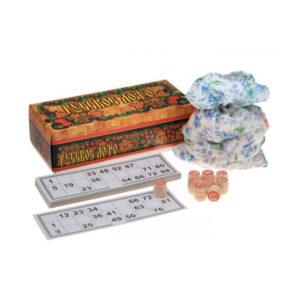 Игра «Русское Лото» арт.С-197, картонная коробка, деревянные бочонки 90шт, 260х120х85мм (1/30) 00007259