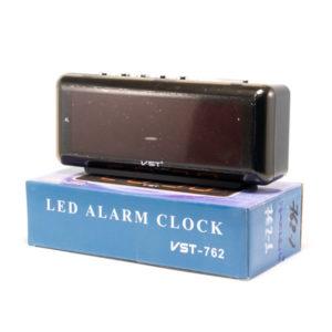 Часы сетевые VST №762-1 красный,21.3х9.5х5.7см (1) 00007328