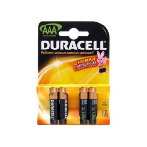 Батарейка DURACELL Basic LR03/ААА BL4(3+1) (40/120) 00007569