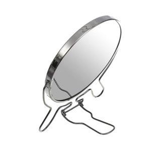 Зеркало настольно-подвесное двустороннее с увеличением 4″/10.0см «MIRROR» круглое,металлическое (12/240) 00007589
