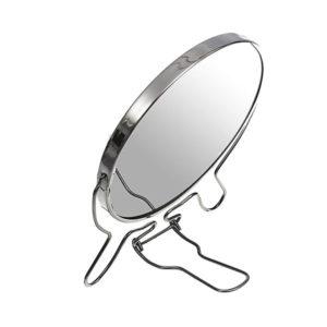 Зеркало настольно-подвесное двустороннее с увеличением 5″/12.0см «MIRROR» круглое,металлическое  (12/120) 00007590