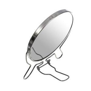 Зеркало настольно-подвесное двустороннее с увеличением 6″/14.0см «MIRROR» круглое,металлическое  (12/96) 00007591