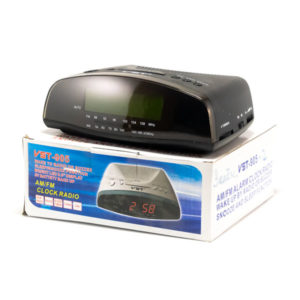 Часы сетевые VST №905-2 зеленый,радио,17х14.5х6.5см (20) 00007742