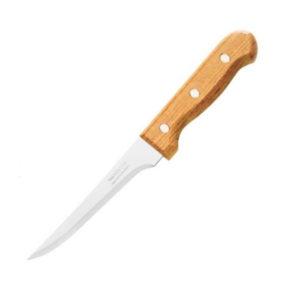 Нож кухонный деревянная рукоять 21.0см «Tramontina Tradicional DZ-2» арт.S????, лезвие: изогнутое, зубчик мелкий, 207х113х1мм (12/60/600) 00007940