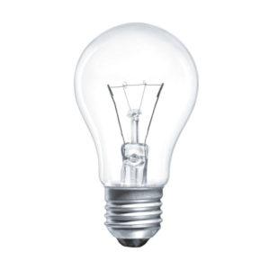 Лампа накаливания общего назначения А50 Томск Б230-40Вт-1 E27 гофраманжета, груша, прозрачная (144) 00008123