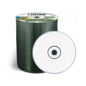 Диски DVD-R Mirex 16x/4.7Gb/120min 100шт. термоупаковка (bulk) (100/500) 00008246