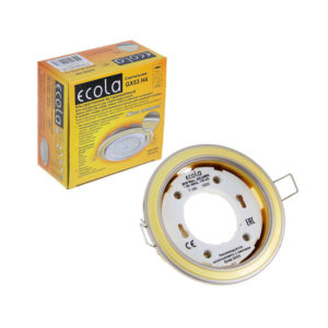 Светильник встраиваемый Ecola GX53-H4 золото,38х106мм (50) [FG53H4ECB] 00008271