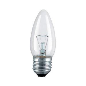 Лампа накаливания общего назначения В36 Калашниково ДС230-60Вт E27 свеча,гофра,прозрачная (100) 00008557
